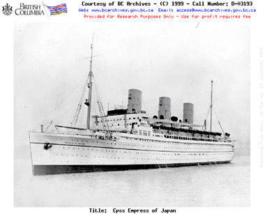 RMS Empress of Japan