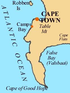 Map of Cape Town Area