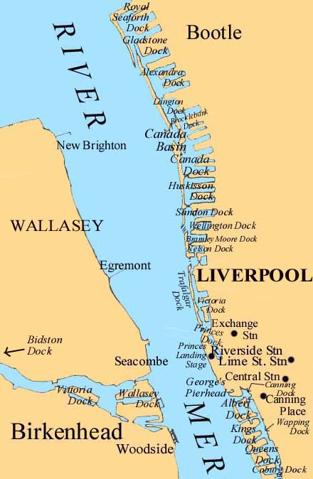 Map Mersey Docks