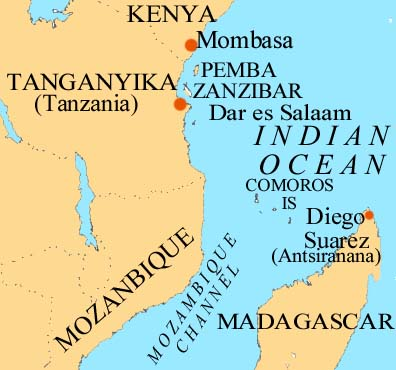 Map Tanganyika